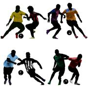soccer challenge - stock illustration