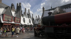 The Hogwarts Express at Universal Studios, Orlando Stock Footage