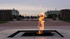 Monument. Eternal flame - stock footage