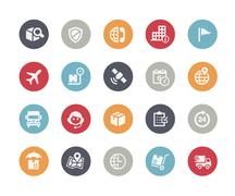 Shipping and Tracking Icons // Classics Series - stock illustration