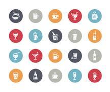 Drinks Icons // Classics Series Stock Illustration
