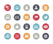 Social Web Icons // Classics Series Piirros