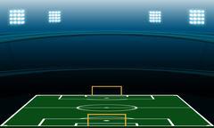 Night soccer stadium Stock Illustration