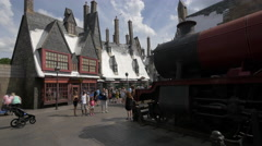 Hogwarts Express at Universal Studios, Orlando - stock footage