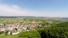Checiny town, Poland Stock Footage