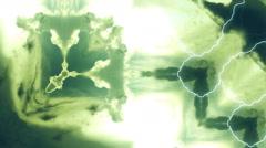 VJ Lightning clouds Kaleidoscope 15 Stock Footage