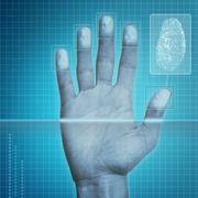 Fingerprint Security - stock illustration
