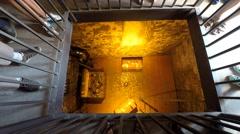 Checiny castle vault, Poland Stock Footage
