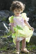 Little girl dressed as a fairy Stock Photos