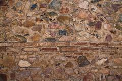 Ancient wall texture to be used as background - stock photo