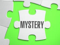 Mystery - Jigsaw Puzzle with Missing Pieces - stock illustration