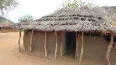 South Sudan Rural Village Hut Stock Footage