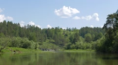 Forest on the banks, the Urals, Russia. 1280x720 Stock Footage