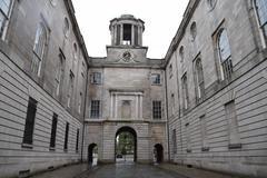 Courtyard of Registry of Deeds - stock photo