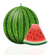 Watermelon ripe juicy vector illustration Stock Illustration