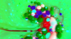 Ink Bubbles In Water. Stock Footage