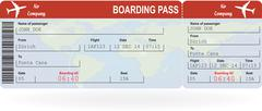 Stock Illustration of Vector image of airline boarding pass ticket