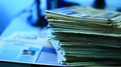 A pile of paper - stock footage