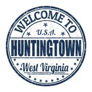Welcome to Huntingtown stamp - stock illustration
