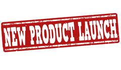 New product launch stamp Stock Illustration
