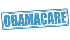 Obamacare stamp - stock illustration