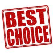 Best choice stamp Stock Illustration