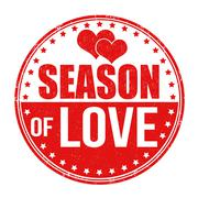 Season of love stamp - stock illustration