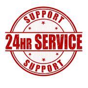 Stock Illustration of 24 hour service stamp