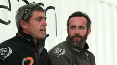 Alberto Bolzan, from Alvimedica sailing team interviewed Stock Footage