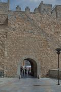 Fortification of Avila in Castile and Leon in Spain - stock photo
