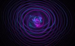 Endless azure fractal spiral woven from thin strings based on the dark. Fractal Stock Illustration