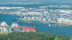 Houston TX Energy Production against the Ship Channel Stock Footage
