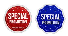 Special promotion stickers set - stock illustration