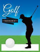 Golf Tournament Flyer Template Illustration Stock Illustration