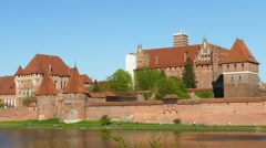 Teutonic Order castle in Malbork Stock Footage