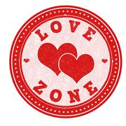 Love zone stamp - stock illustration