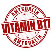 Vitamin B17 stamp Stock Illustration