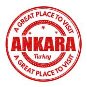 Ankara stamp Stock Illustration