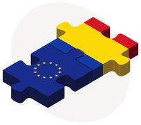 Stock Illustration of European Union and Moldova Flags in puzzle