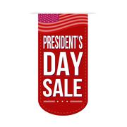 Presidents Day sale banner design Stock Illustration