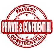 Private and confidential stamp Stock Illustration