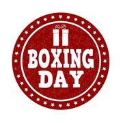 Boxing day stamp - stock illustration