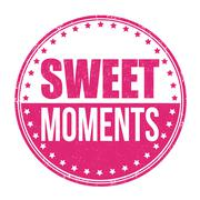 Sweet moments stamp - stock illustration