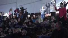 People dancing at the concert. Happy people having fun at the performance. - stock footage
