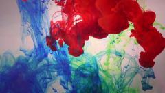 Colorful Ink Drops Stock Footage