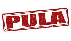 Pula stamp - stock illustration