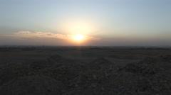 Sunset Next to Pyramids of Giza Stock Footage