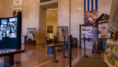 Inside San Jacinto Memorial Museum Houston Texas 1 Stock Footage
