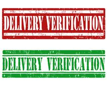 Delivery verification stamps - stock illustration
