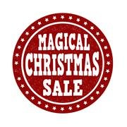 Stock Illustration of Magical Christmas sale stamp